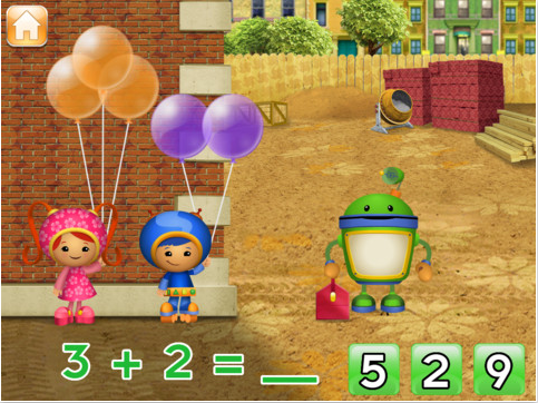 apps for preschoolers, team umizoomi, Mama Knows It All