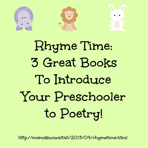 Books of Poetry For Preschoolers