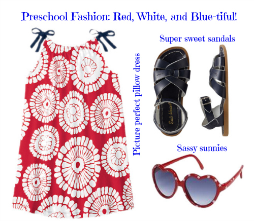 Preschool Style: Red, White, and Blue-tiful!