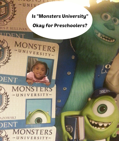 is monsters university okay for little kids