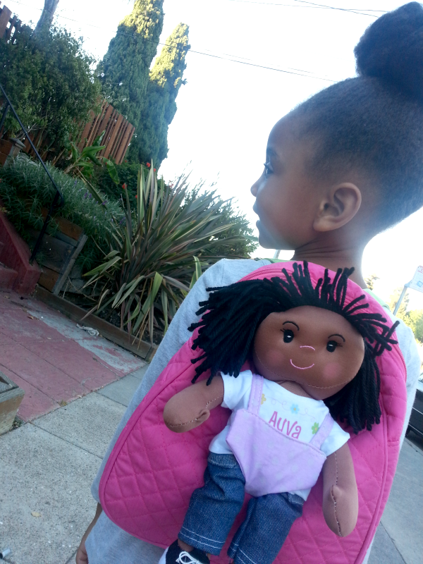 little girl with backpack, little Black girl, Mama Knows It All, Personal Creations