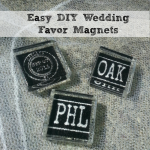 DIY Wedding Favor Magnets