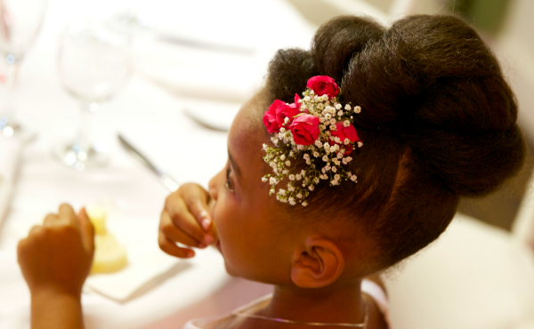 flower girl, hair, Mama Knows It All, wedding