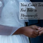 You Can't Turn A Foe Into A Housewife