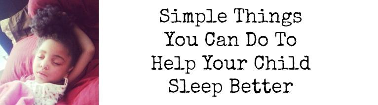 help your child sleep better