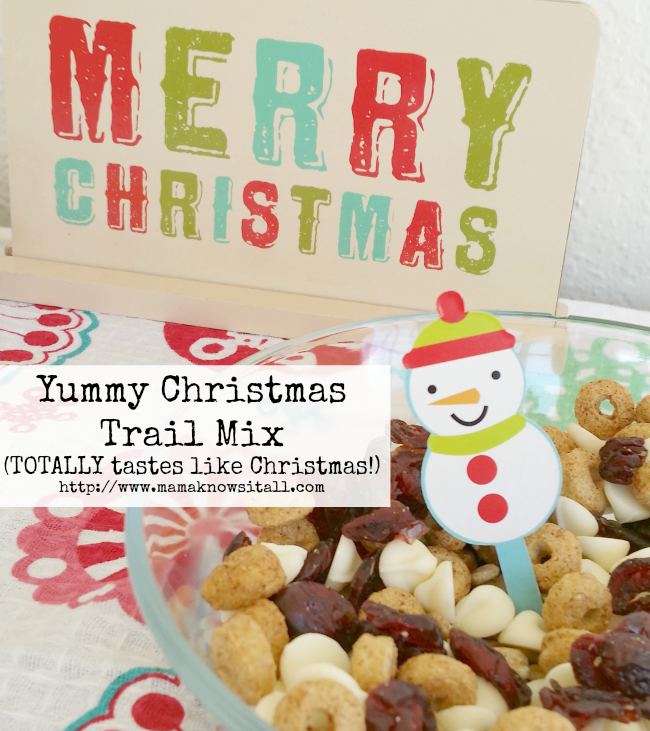 Christmas Trail Mix to make with kids