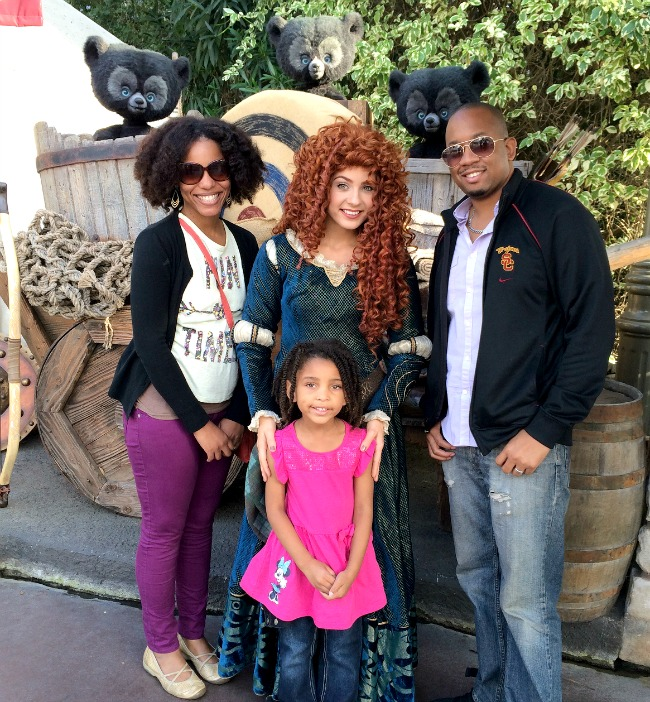 Merida at DisneyLand
