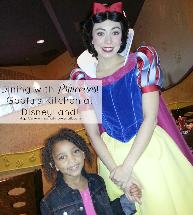 Dine with princesses at Goofy's Kitchen