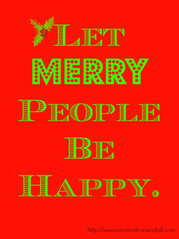 Let Merry People Be Happy
