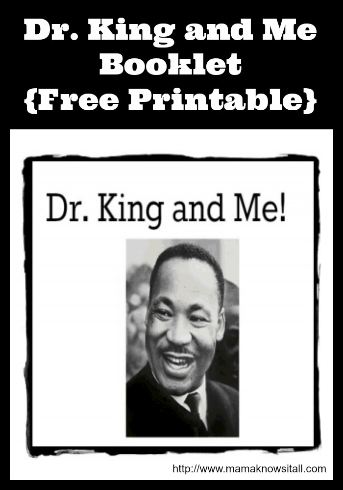 Dr Martin Luther King Jr Booklet For Preschoolers