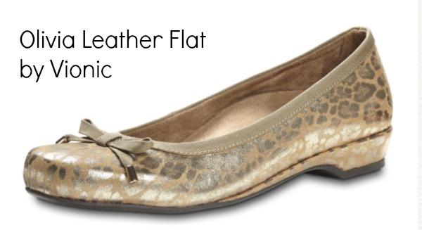 Olivia Leather Flat