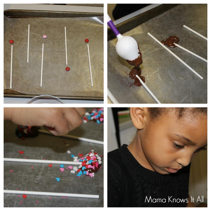 Chocolate Valentine's Day Lollipops - Mama Knows It All