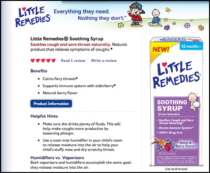 little remedies soothing syrup