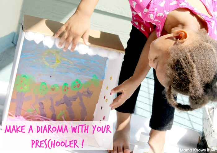 Making A Diaroma With A Preschooler