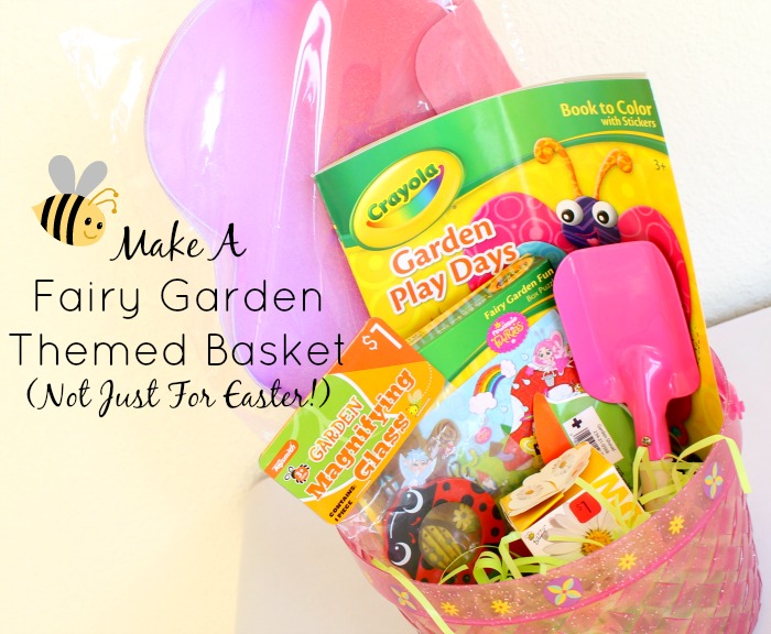 Make a Fairy Garden Themed Basket
