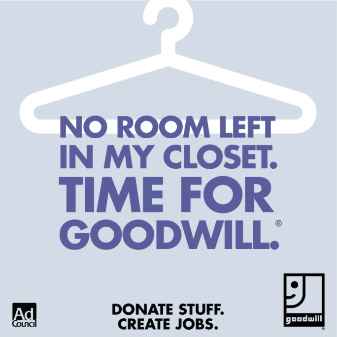 No Room In Your Closet? Donate to Goodwill!