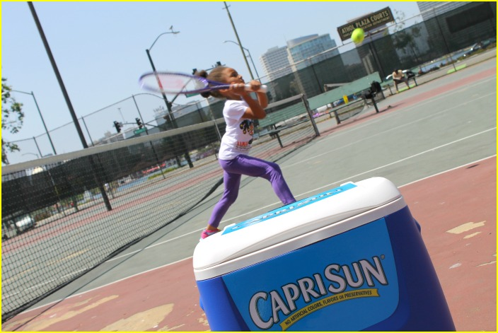 #CapriSunMomFactor, tennis, Family Fun