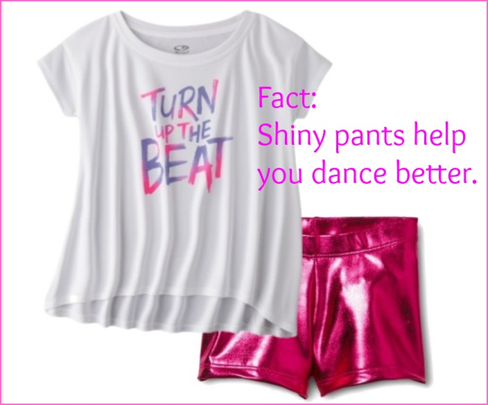 Fact: Shiny pants help you dance better.