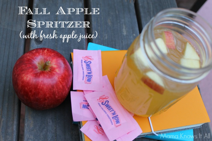 Fall Apple Spritzer w/ Sweet'N Low