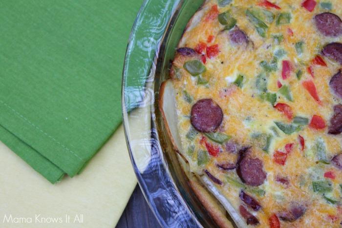 potato sausage frittata 2