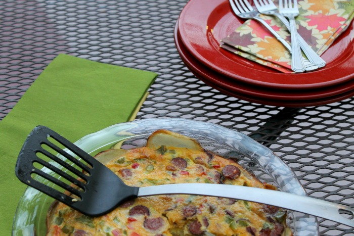 potato sausage frittata 4