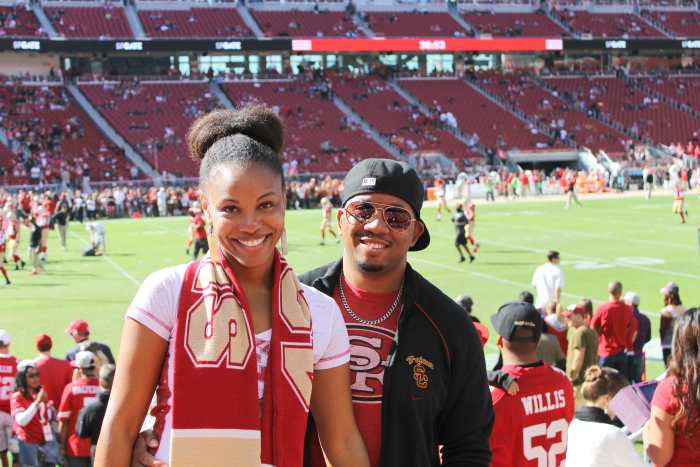 brandi and terrence 49ers