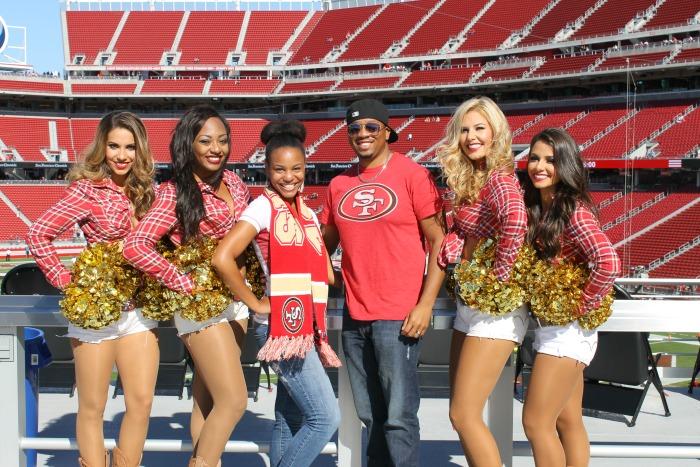 Verizon 49ers cheerleaders