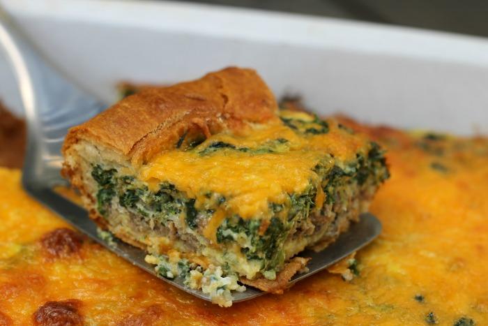Potato, Sausage, And Spinach Breakfast Casserole Recipe ...