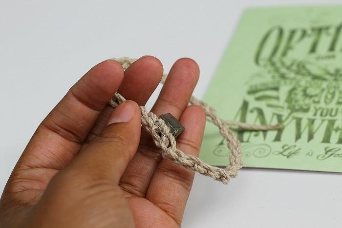make a rock bracelet 2