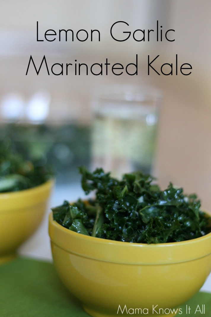 Lemon Garlic Marinated Kale