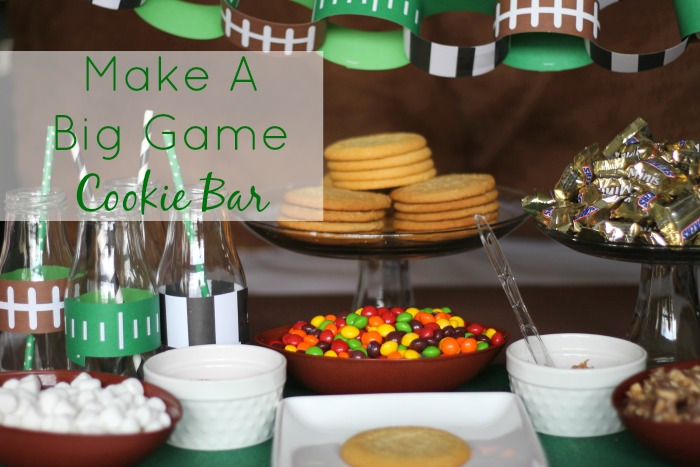 Make A Big Game Cookie Bar