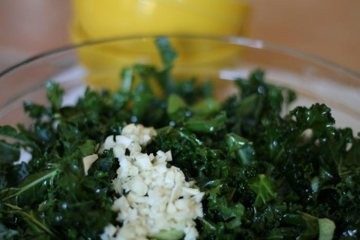 Lemon Garlic Marinated Kale