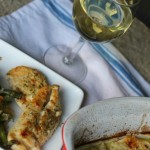 Baked Chicken In Creamy White Wine Sauce
