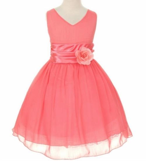 pink princess coral dress