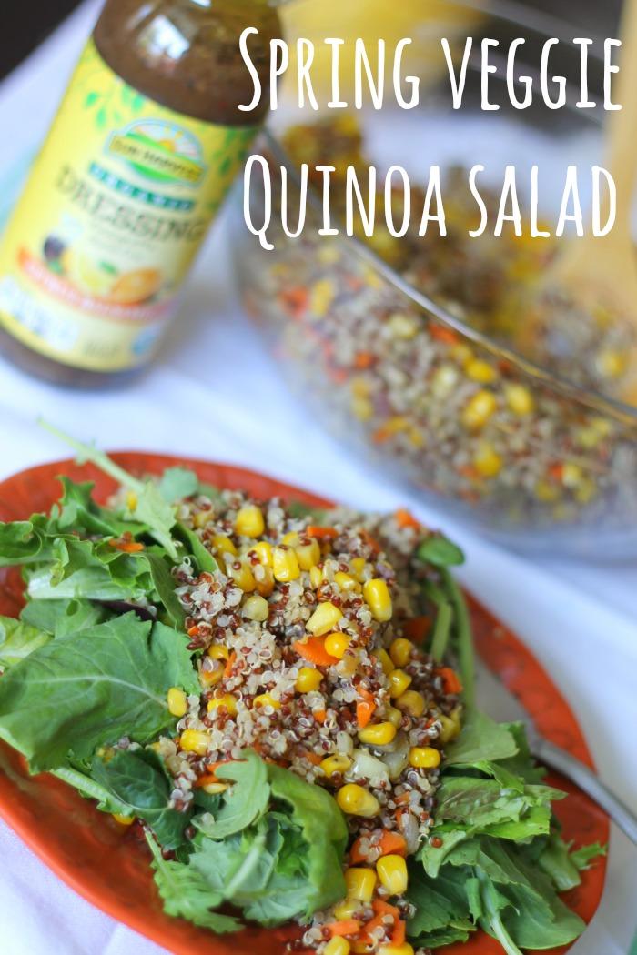 spring veggie quinoa salad