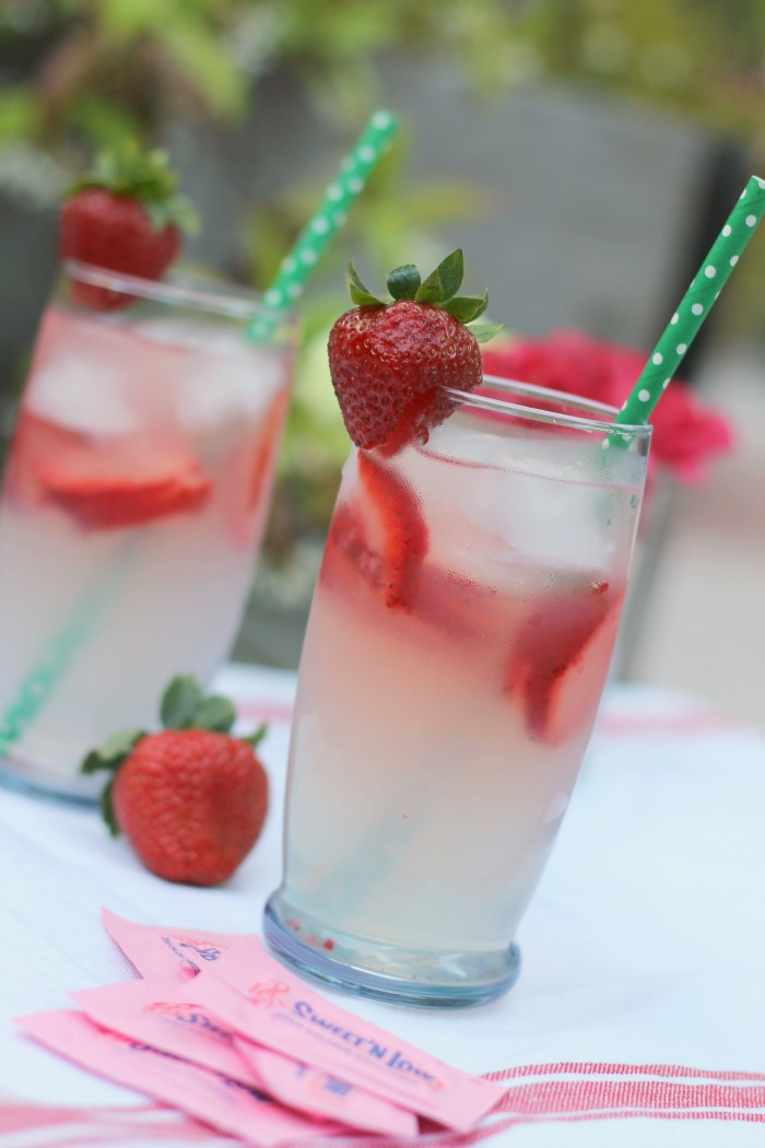 strawberry infused lemonade