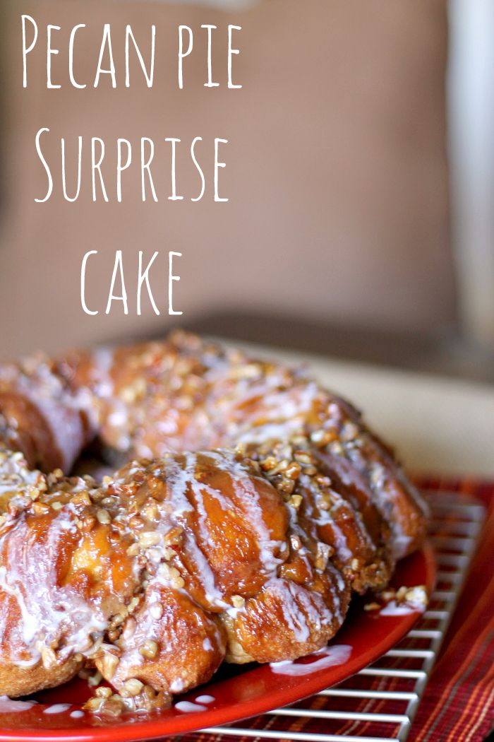 Pecan Pie Surprise Cake