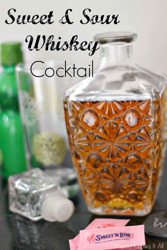 sweet and sour whiskey cocktail