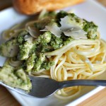 Delicious Organic Chicken with Homemade Pesto and Pasta