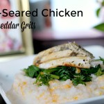 Pan-Seared Chicken with Cheddar Grits