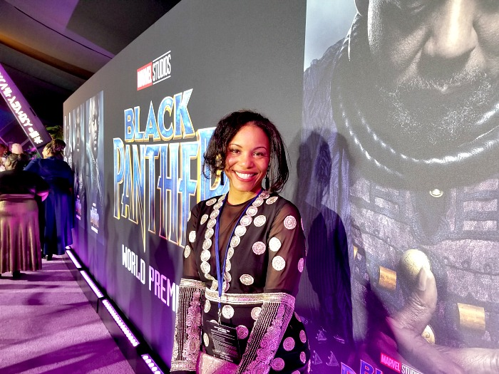 What was it like to attend the world premiere of 'Black Panther'?