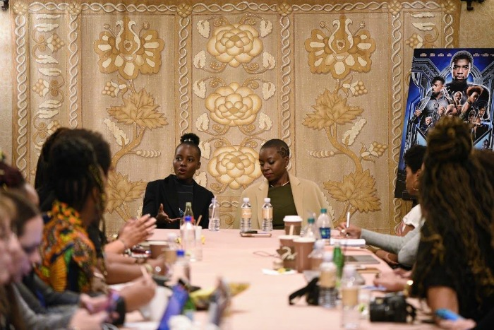 Exclusive Interview: Black Panther's Lupita Nyong'o and Danai Gurira talk strength, vulnerability, and hair