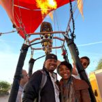 I took a hot air balloon ride and it was a really fun adventure