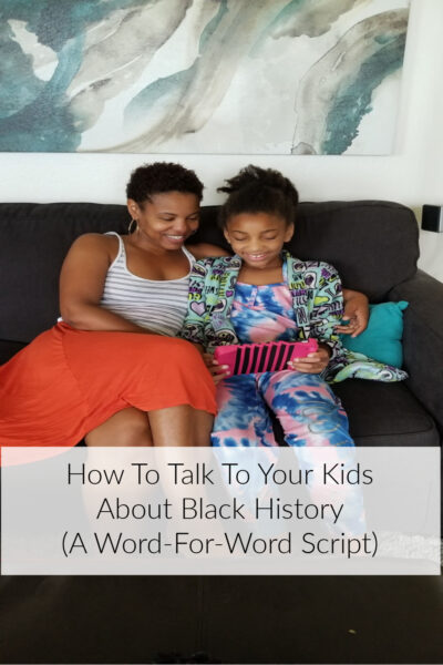 talking to kids about Black history